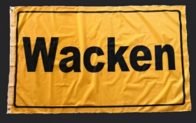 WACKEN FLAG town sign style 150 x 90 cm