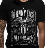 T-SHIRT JOHNNY CASH LABEL